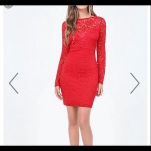 Red lace dress from Bebe